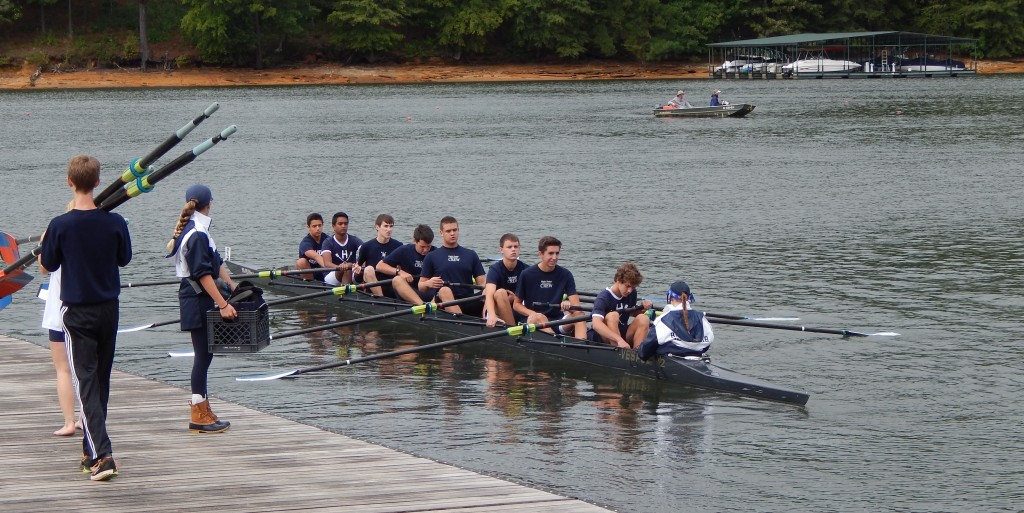 High Point's youth eight at the Clemson Sprints regatta in South Carolina.
