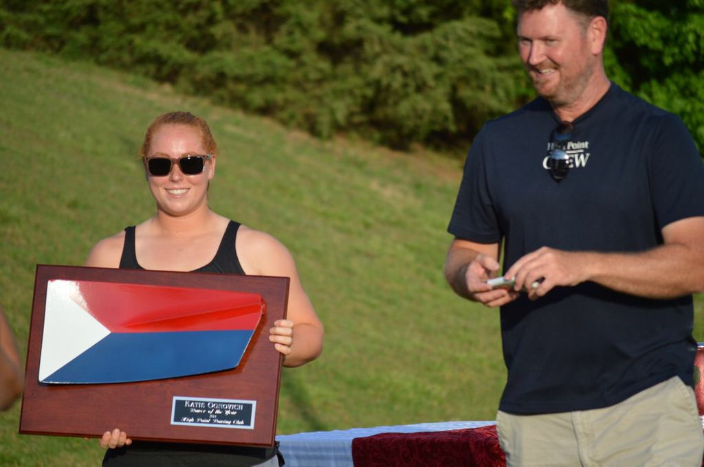 2014 Female Rower of the Year (pictured with chief coach Gene Kininmonth): Katie Ognovich.
