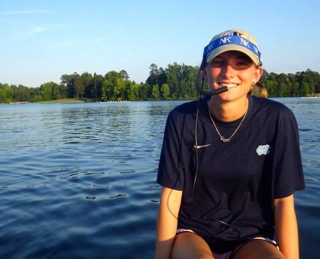 Allie Davis, the former chief coxswain at Carolina, is now the varsity girls rowing coach at High Point Rowing Club.