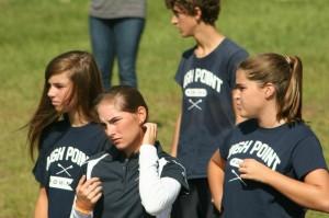 High Point varsity coach Allie Davis observes her squad at Beaverdam on Saturday.