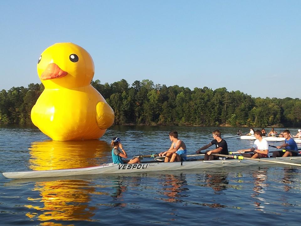 "Over 80 boats will race ""Round the Duck"" at the 2014 High Point Autumn Rowing Festival on Saturday."