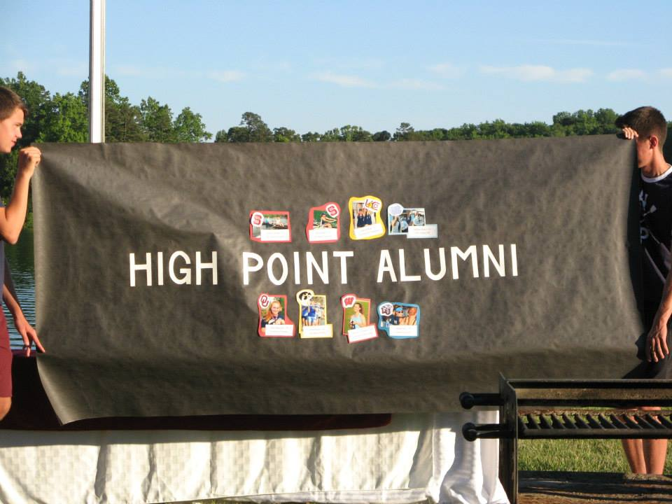 The High Point Alumni Banner was also a gift from the Senior Class of 2015.