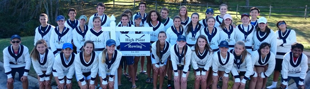 High Point Rowing Club youth squad sporting their club cricket jumpers.