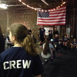 Youth captains Victoria Goldin and Olivia Corierre rowed the first leg of the 100k Ergathon.