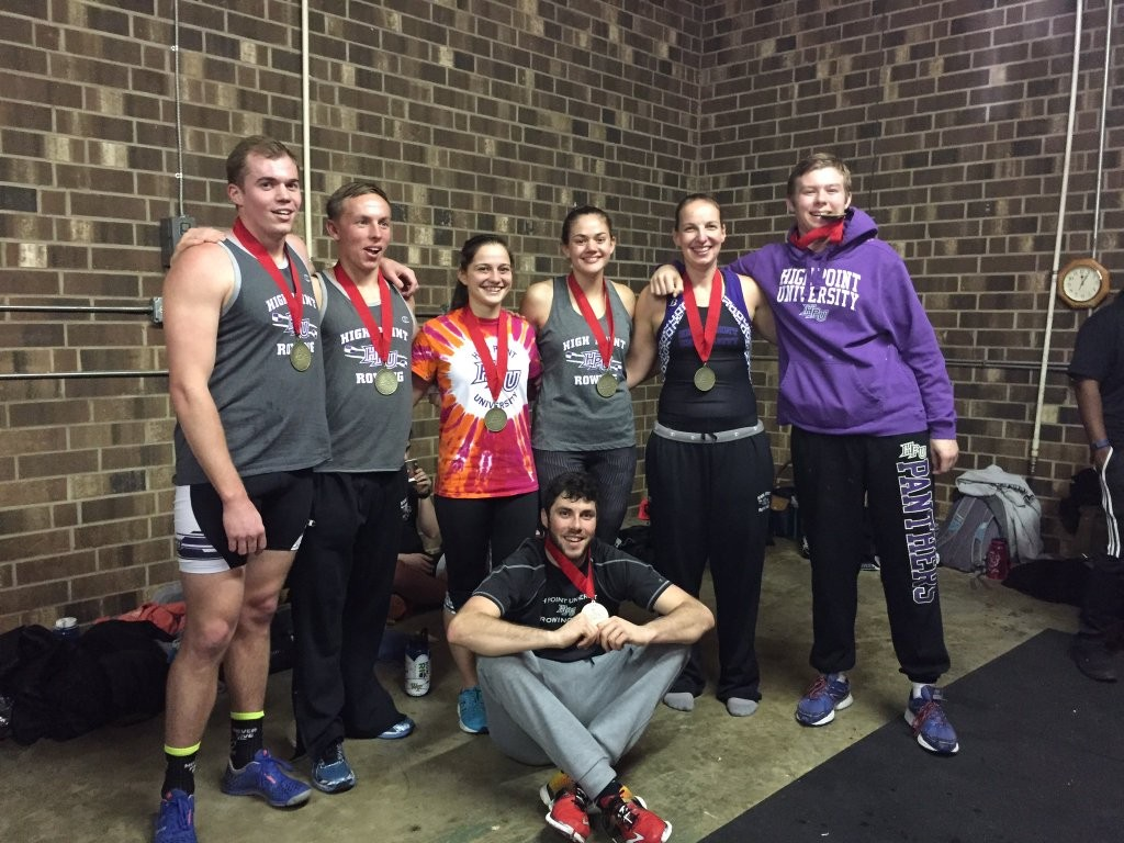 High Point University rowers won 5 of 6 events at the 2016 124C Erg Sprints.