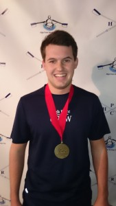 Charles York earned victory in the boys J16 event at 124C Erg Sprints.
