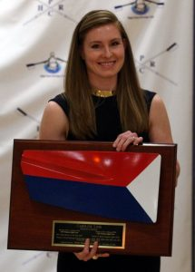 Caroline Lind, who won two Olympic gold medals, was inducted into the Triad Rowers' Hall of Fame on at the High Point Country Club on November 19.
