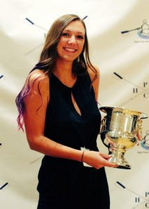 Maddie Mullins was awarded the Caroline Howard Cup for service and inspiration to her fellow rowers at the 2016 Celebration of Rowing banquet.